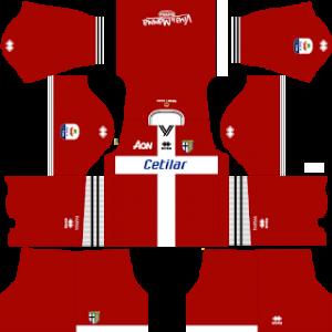 Dream League Soccer Parma goalkeeper home kit 2018-2019