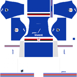 Dream League Soccer Sampdoria home kit 2018-2019