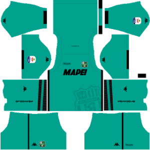 Dream League Soccer Sassuolo goalkeeper home kit 2018-2019