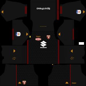 Dream League Soccer Torino goalkeeper home kit 2018 - 2019