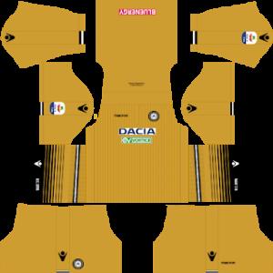 Dream League Soccer Udinese away kit 2018 - 2019