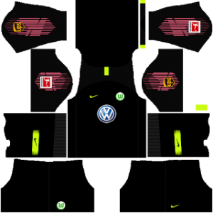 Dream League Soccer Wolfsburg goalkeeper away kit 2018 - 2019