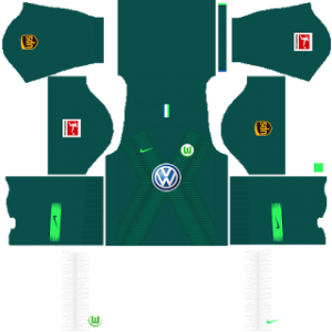 Dream League Soccer Wolfsburg home kit 2018 - 2019