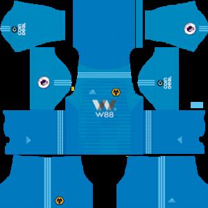 Dream League Soccer Wolverhampton goalkeeper home kit 2018 - 2019