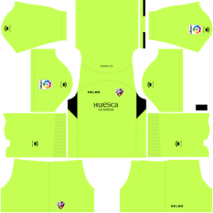 Dream League Soccer Huesca goalkeeper home kit 2018 - 2019