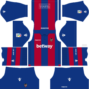 Dream League Soccer Levante UD home kit 2018 - 2019