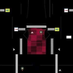 Dream League Soccer Morocco goalkeeper home kit 2018 - 2019