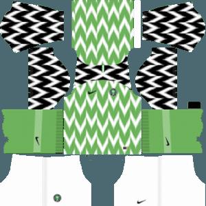 Dream League Soccer Nigeria home kit 2018 - 2019