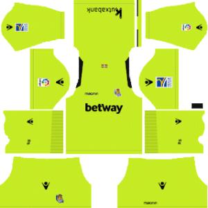 Dream League Soccer Real Sociedad goalkeeper home kit 2018 - 2019