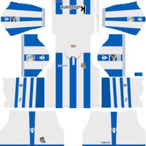 Dream League Soccer Real Sociedad home kit 2018 - 2019