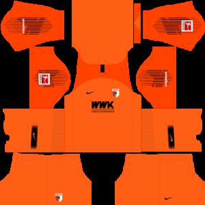 Dream League Soccer FC Augsburg goalkeeper home kit 2018 - 2019